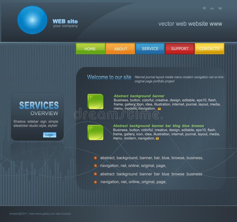 Graue vektorweb site für Geschäft stock abbildung