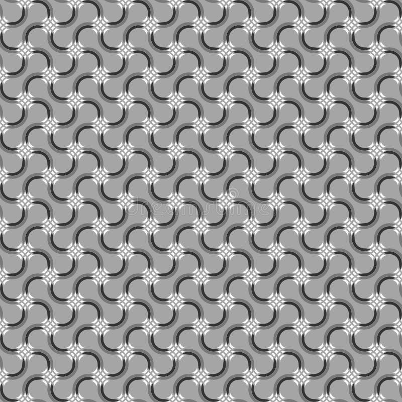 Graue Verzierung mit Mosaikkreuzen und schwarzen Details stock abbildung