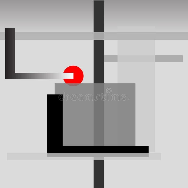 Grauer abstrakter Hintergrund lizenzfreie abbildung