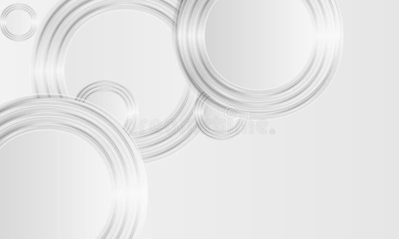 Grauer abstrakter Hintergrund stock abbildung