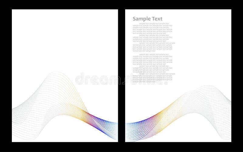 Grauer abstrakter Hintergrund, Frontseite und Rückseite lizenzfreie abbildung