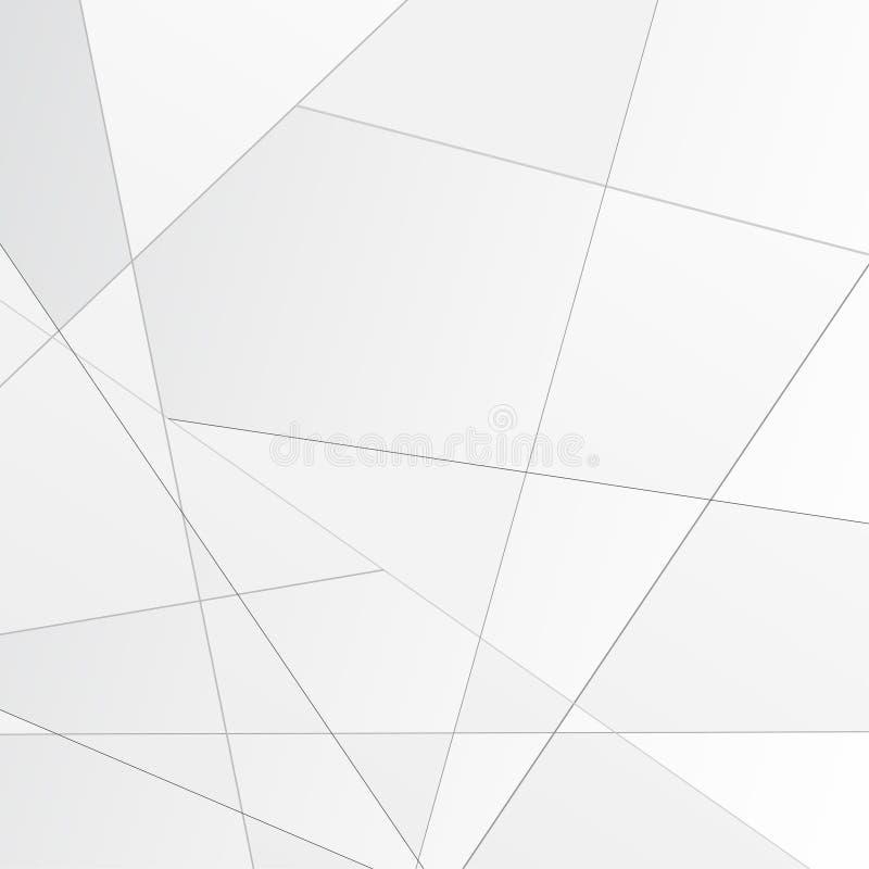 Grauer abstrakter polygonaler modularer Hintergrund lizenzfreie stockfotos