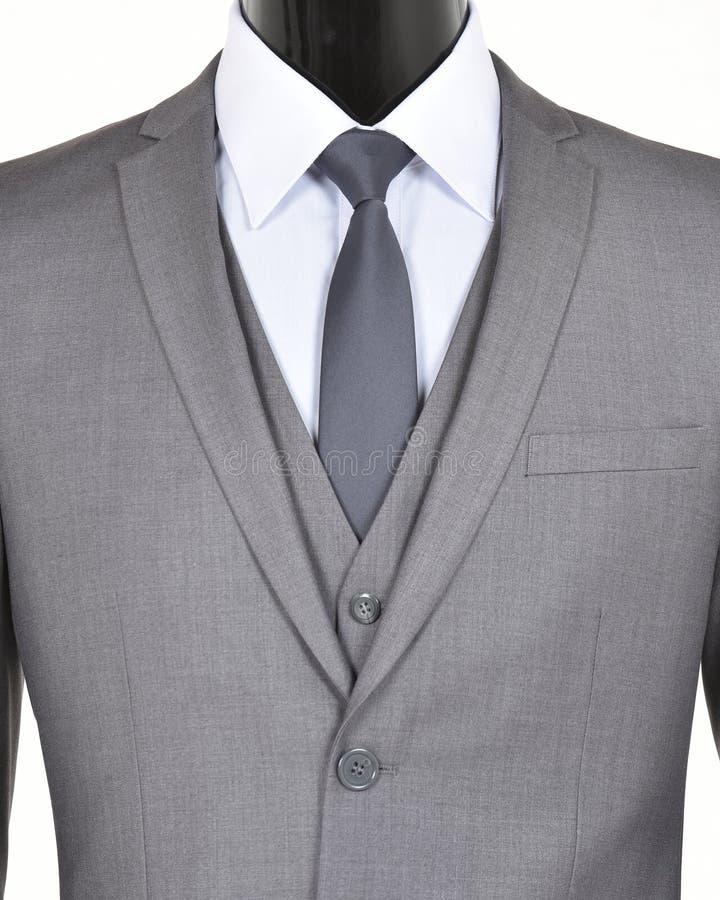 Grauer Anzug und Bindung lizenzfreies stockfoto