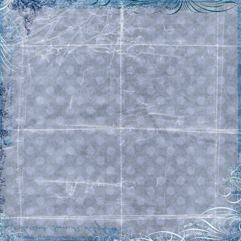 Grauer beschmutzter Hintergrund mit Blumenrand vektor abbildung