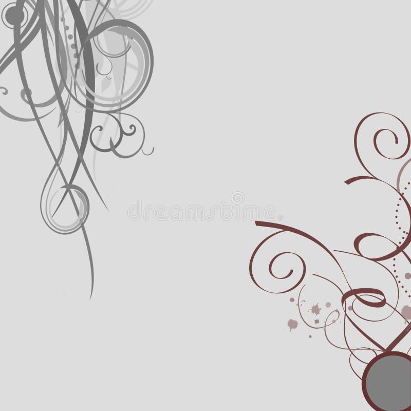 Grauer Blumenstrudelhintergrund vektor abbildung