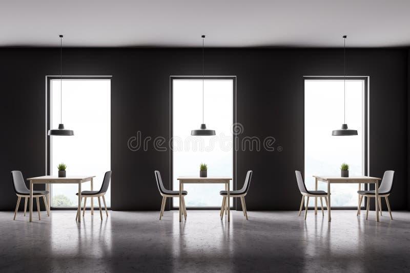 Grauer Caféinnenraum des Dachbodens stock abbildung