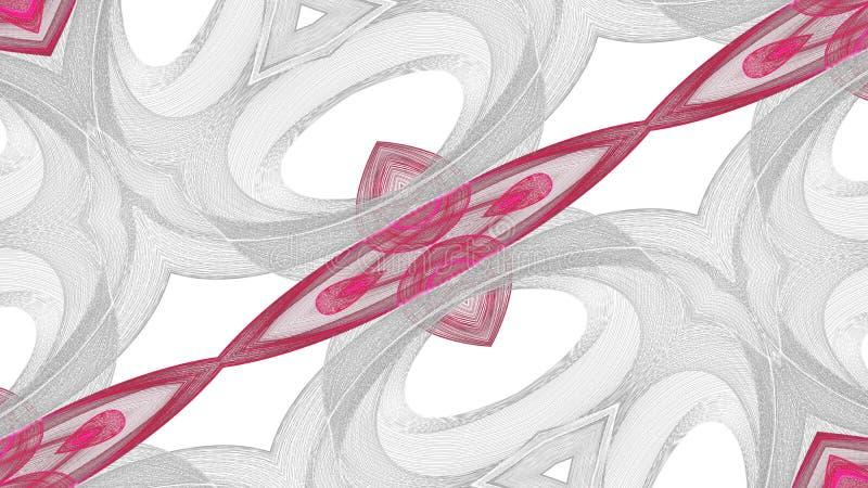 Grauer Digital-Kunst abstrakter und roter Entwurf auf wei?em Hintergrund vektor abbildung