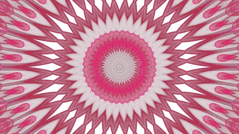 Grauer Digital-Kunst abstrakter und roter Entwurf auf wei?em Hintergrund stock abbildung