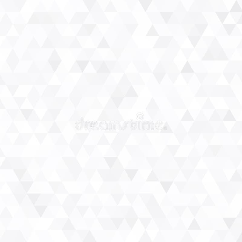 Grauer Dreieckhintergrund des abstrakten Vektors Geometrisches weißes Beschaffenheitsmuster vektor abbildung