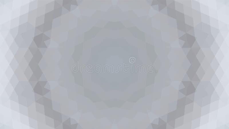 Grauer geometrischer Entwurf, grauer abstrakter Hintergrund Mosaik eines Vektorkaleidoskops, Muster für Geschäftsanzeige, Broschü stock abbildung