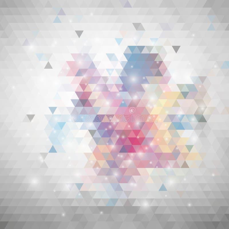 Grauer geometrischer Hintergrund, abstraktes Dreieck lizenzfreie abbildung