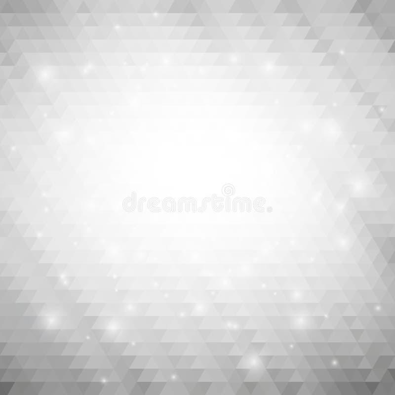 Grauer geometrischer Hintergrund, abstraktes Dreieck vektor abbildung