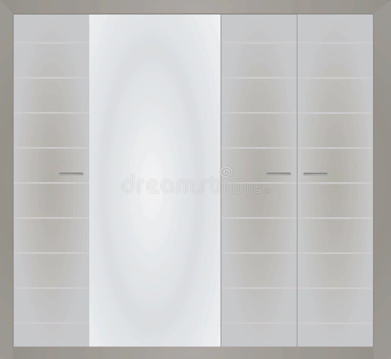 Grauer geschlossener Wandschrank stock abbildung
