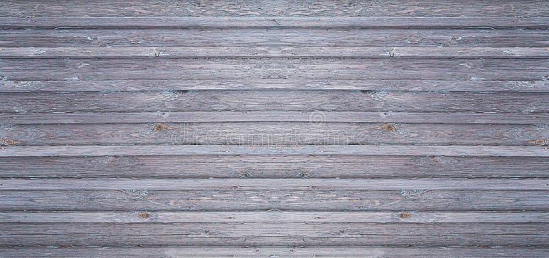 Grauer hölzerner Hintergrund verwitterte Bretter mit rustikaler Basis des horizontalen Segeltuches der Rippen lizenzfreie stockbilder
