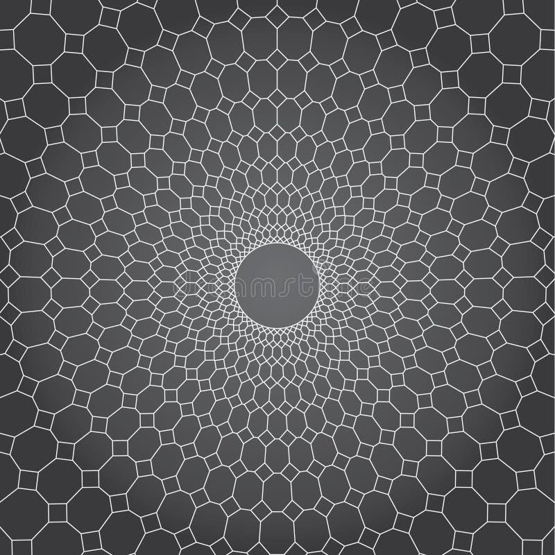 Grauer Hintergrund, Linie und Diamant des abstrakten Vektordesigns, zum des Netzes einzukreisen stock abbildung