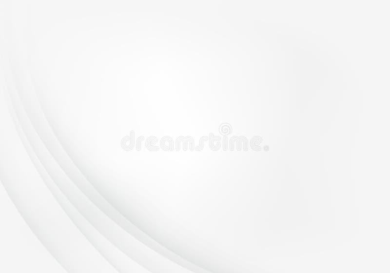 Grauer Hintergrund mit Maßdeckungs-Schichtkurve auf Leerraumhintergrund für Text und Gestaltung der Werbebotschaft stock abbildung