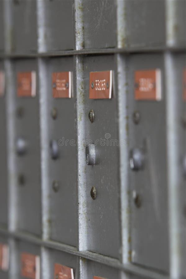 Grauer Pfosten-Kasten 1 stockbild