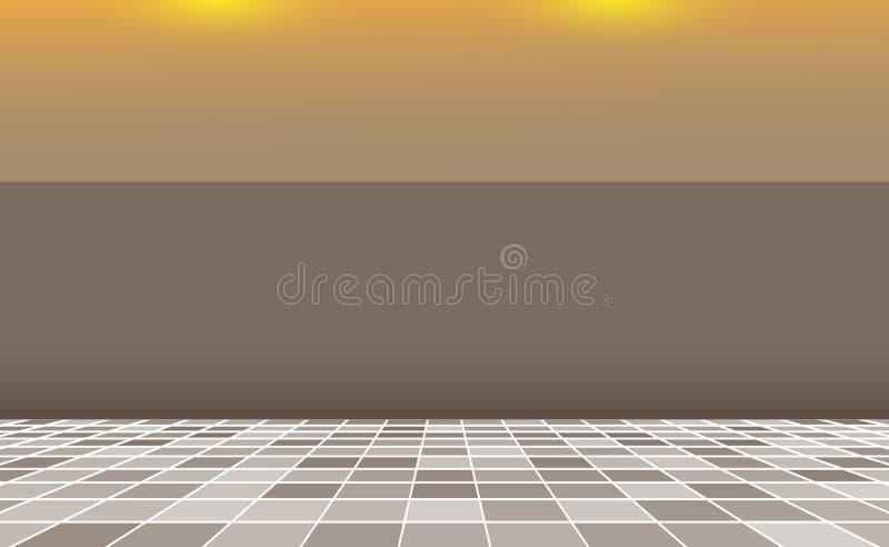 Grauer Quadratmosaik Fliesenhintergrund, Fahnenbraunwand Hintergrund mit abstraktem Innenraum Gelegentliche graue Fliesen Masern  lizenzfreie abbildung