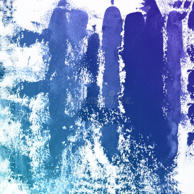 Grauer und blauer antiker Bürstenaquarell-Farbenhintergrund, Einklebebuchskizze beschriftend vektor abbildung