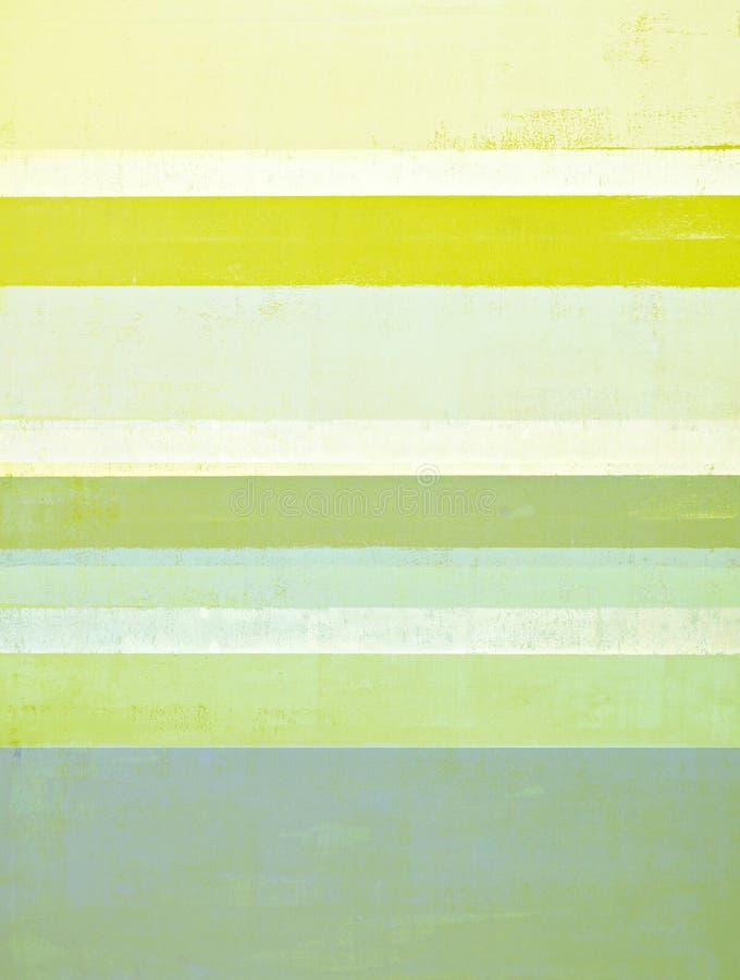 Grauer und gelber abstrakte Kunst-Anstrich lizenzfreie stockfotos