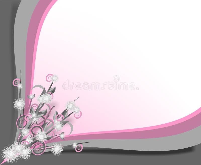 Grauer und rosafarbener Rand lizenzfreie abbildung