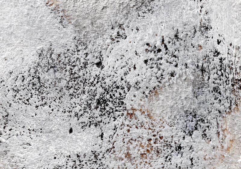 Grauer und weißer konkreter Beschaffenheitshintergrund besch?digung Gebrochener Steinwandhintergrund stockbild