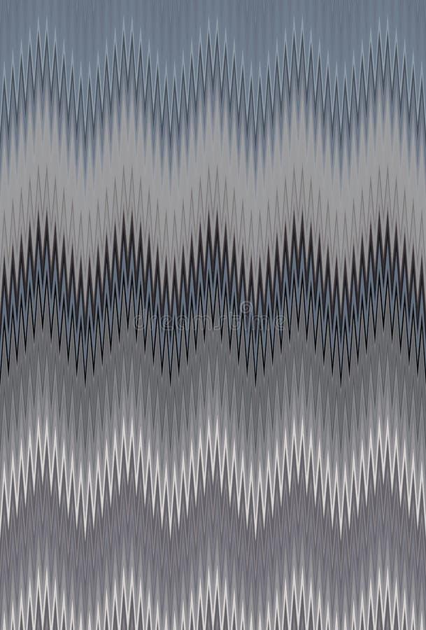 Grauer Zickzack der Musterhintergrund-Beschaffenheit Auszug stock abbildung