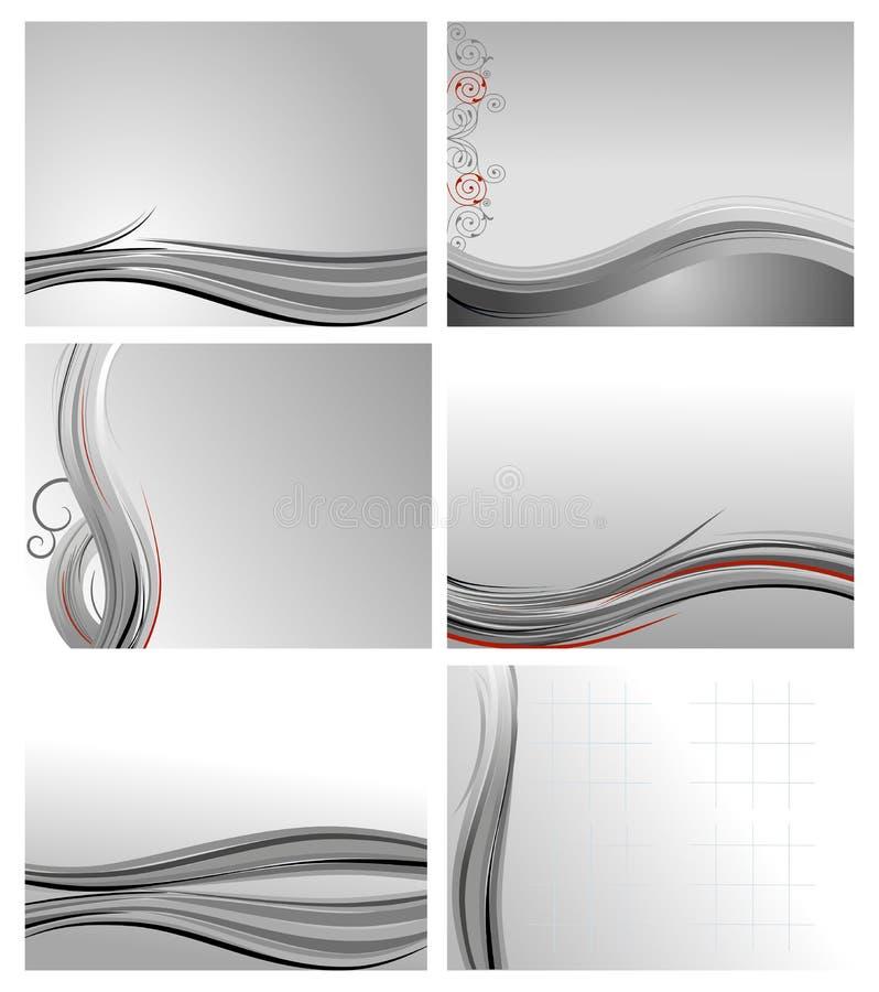 Graues abstraktes Hintergrundset lizenzfreie abbildung