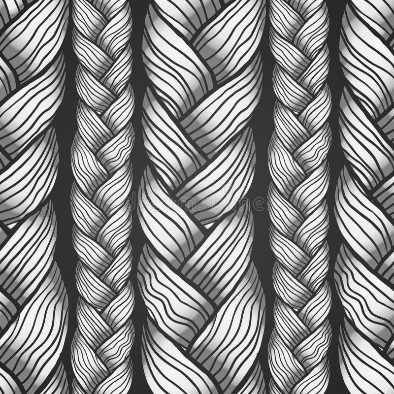 Graues abstraktes nahtloses Haarmuster stock abbildung