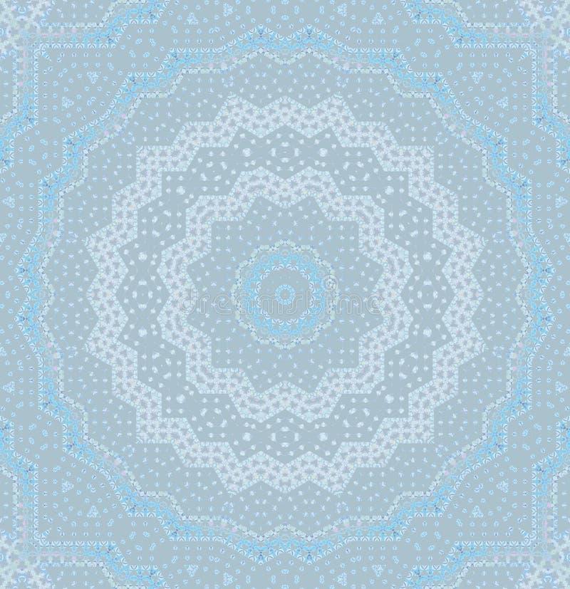 Graues Blau der nahtlosen Kreisverzierung lizenzfreie abbildung