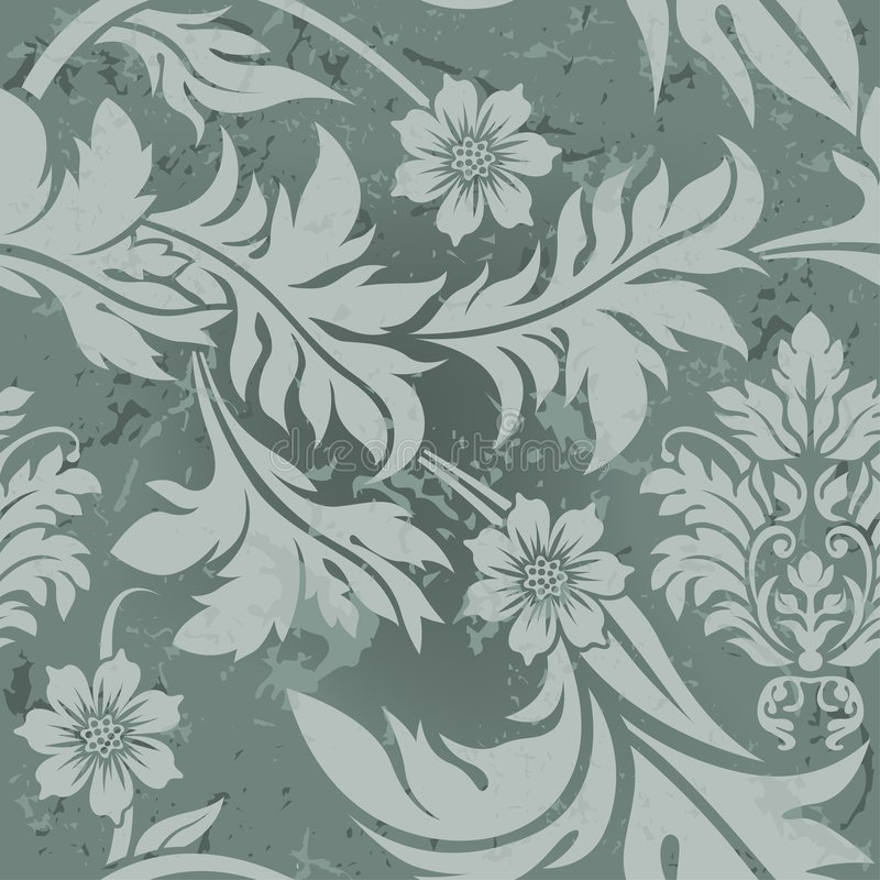 Graues Blumenmuster Lizenzfreie Stockbilder
