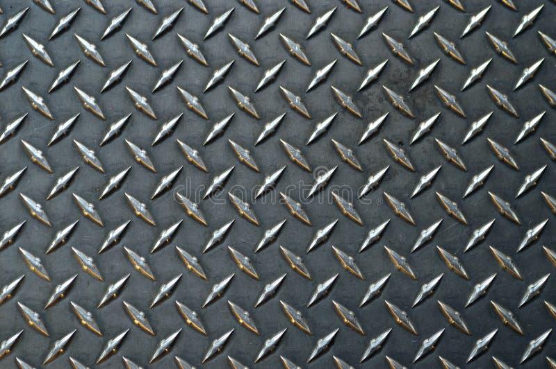 Graues farbiges Diamantplatten-BAC stockbild