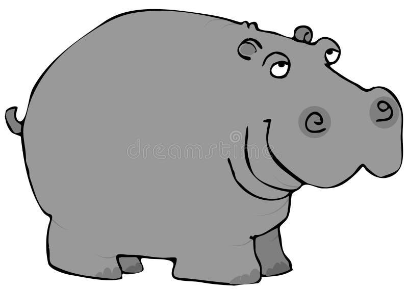 Graues Flusspferd stock abbildung