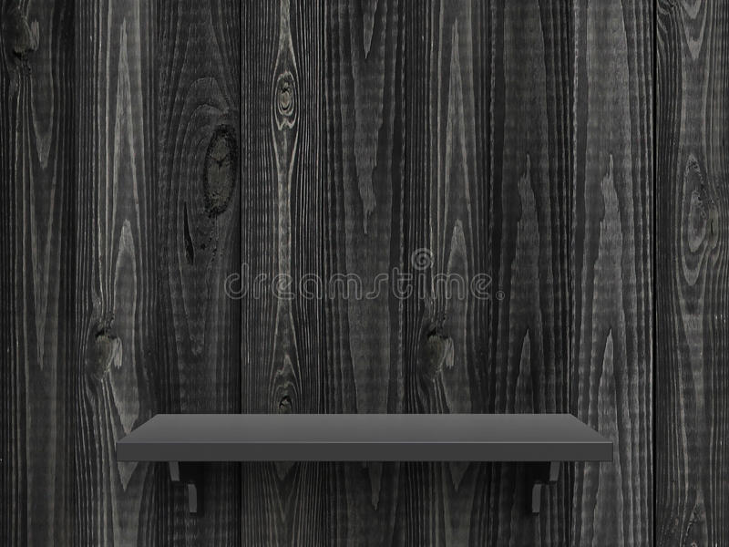 Graues hölzernes Regal stock abbildung