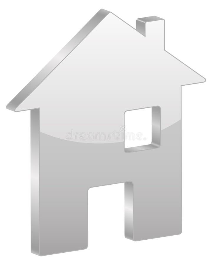 Graues Haussymbol stock abbildung