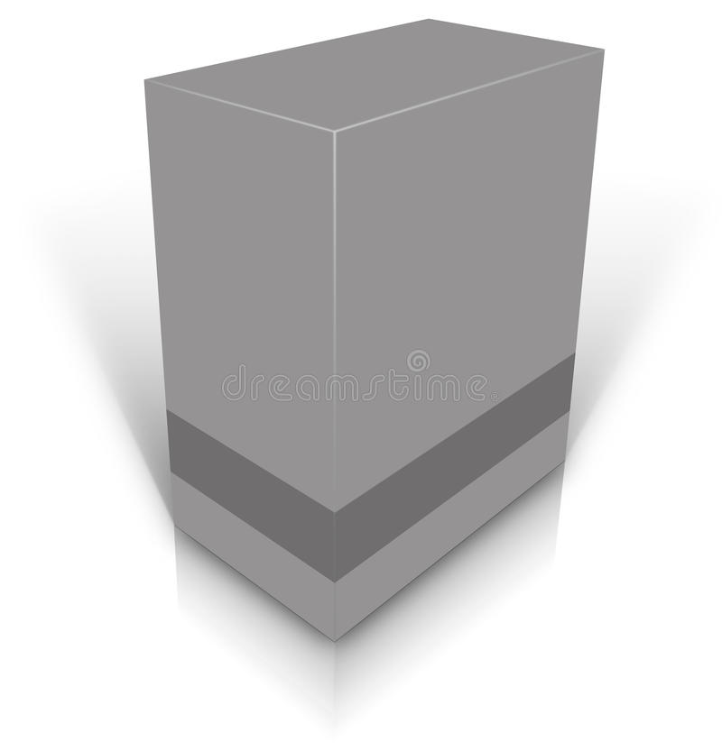 Graues leeres Kleinproduktpaket vektor abbildung