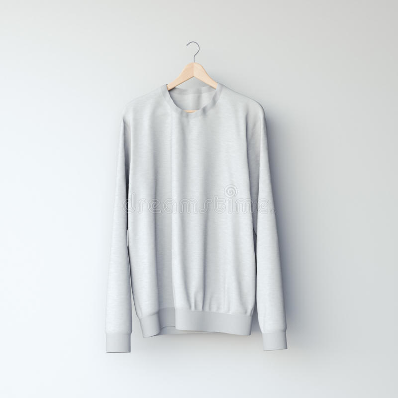 Graues leeres Sweatshirt Wiedergabe 3d lizenzfreie stockbilder