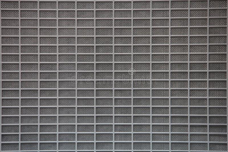 Graues Metallrasterfeld lizenzfreies stockbild