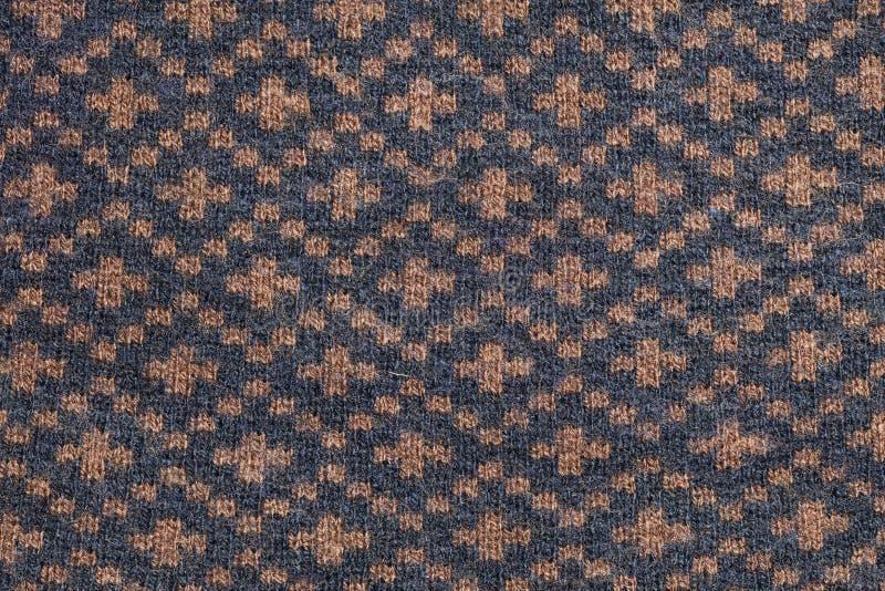 Graues orange Gewebe, Nahaufnahme auf Muster stockfoto
