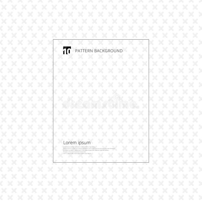 Graues Quermuster Geometrisches graues Plus nahtlos auf weißem backgr lizenzfreie abbildung