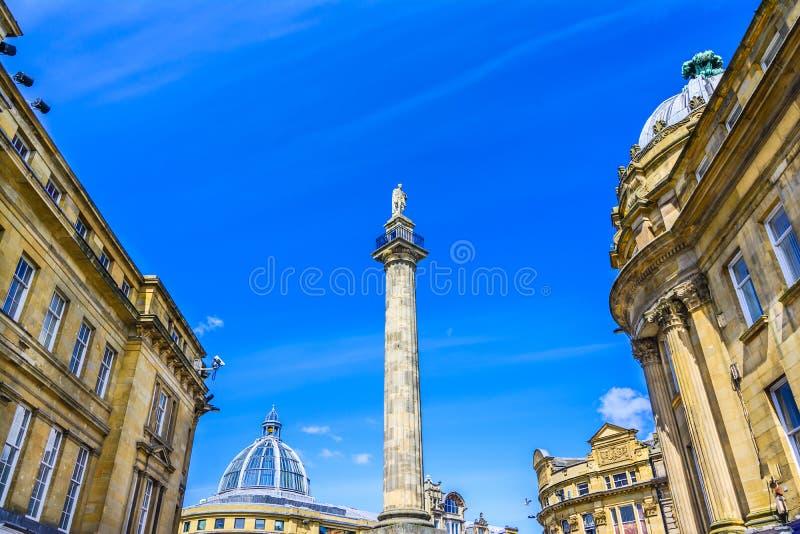 Graues ` s Monument, Newcastle, Großbritannien stockbilder