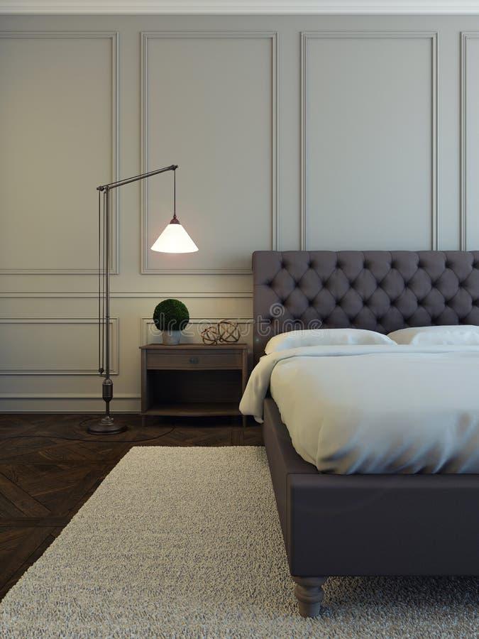 Graues Schlafzimmer vektor abbildung