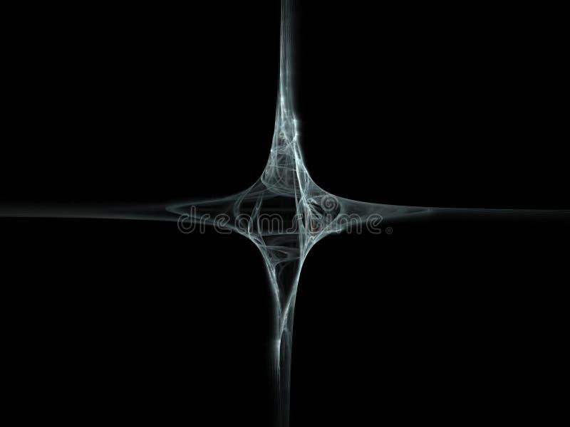 Graues schwarzes Kreuz stockbild