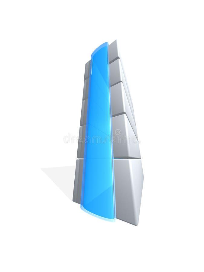Graues Server tover vektor abbildung