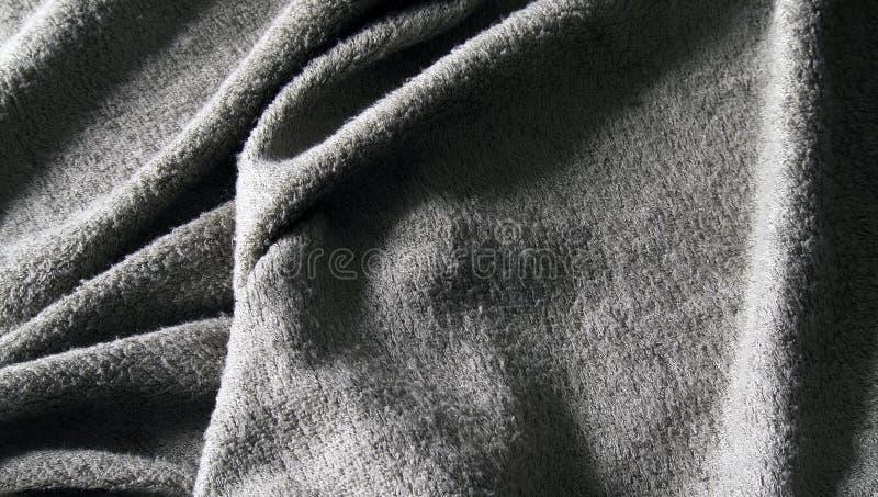 Graues Tuchterry-Tuch lizenzfreie stockfotografie