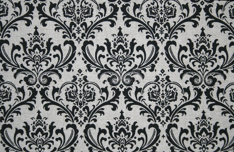 Graues und schwarzes Damast-Muster lizenzfreie abbildung