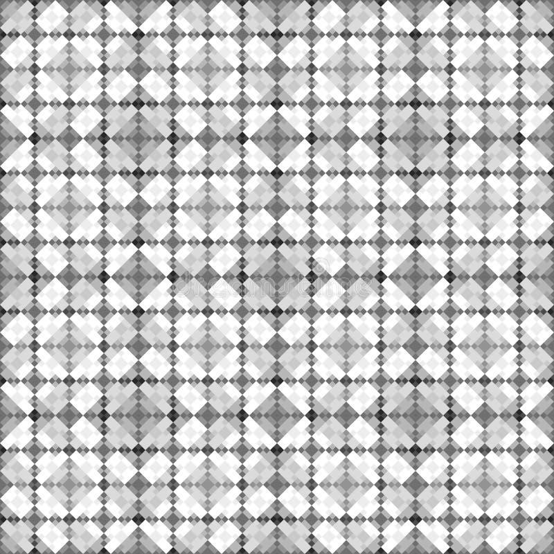 Graues und weißes Würfelmuster stock abbildung
