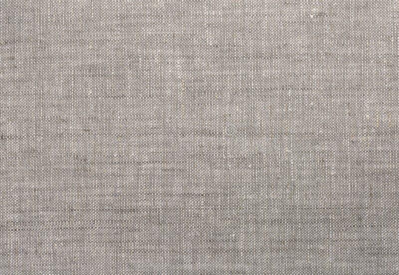 Grauleinengewebebeschaffenheit lizenzfreie stockfotografie