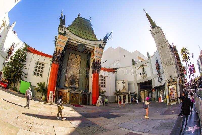 Grauman的中国剧院入口在好莱坞,洛杉矶 图库摄影