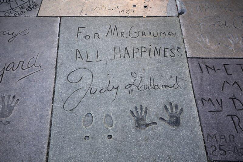 Grauman chiński theatre, Hollywood, Los Angeles, usa zdjęcie stock